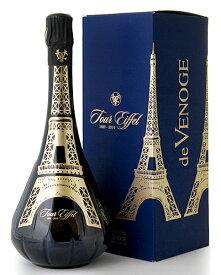 箱入り エッフェル塔 130周年記念 プランス ブリュット トゥール エッフェル NV ドゥ ヴノージュ ( 泡 白 ) シャンパン シャンパーニュ(ワイン(=750ml)4本と同梱可)