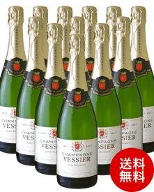 送料無料 12本セット キュベ デクルベルト NV シャンパーニュ ヴェシエ ( 泡 白 ) シャンパン シャンパーニュ