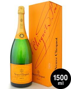 マグナムボトル 正規 箱入り ヴーヴ クリコNVイエロー ラベル1500ml ( 泡 白 ) シャンパン シャンパーニュ (ワイン(=750ml)4本と同梱可) [tp]