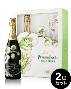 正規 オリジナル箱入り ベル エポック [ 2012 ]ペリエ ジュエ グラス2脚付きセット ( 泡 白 ) シャンパン シャンパーニュ(ワイン(=750ml)8本と同梱可)