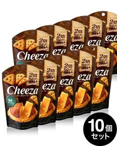 10個セット 生チーズのチーザ 燻製チーズ味/Cheeza(40g) (グリコ) 【賞味期限:2020年7月31日】
