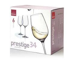 送料無料ロナRONAクラシック白ワイン6脚セット(ワイングラスRONAシリーズプレステージprestige)(ワイン(=750ml)6本と同梱可)[J]