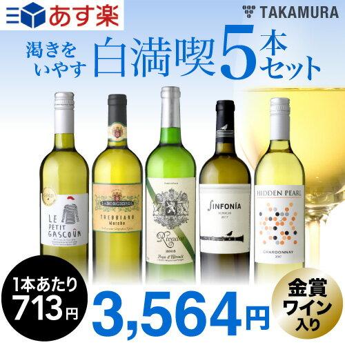 第88弾 渇きをいやす5本 白ワインセット いつでもやっぱり白満喫!!(送料別 追加7本同梱可)[T]