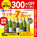 送料無料 第19弾 お値打ちスパークリング ワイン 7本セット 金賞受賞泡も♪まとめ買いで超お得!ラッキー7☆(追加5本…