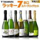 ワインセット 送料無料 第24弾 お値打ち スパークリング ワイン 7本セット 金賞受賞泡も♪まとめ買いで超お得!ラッキー7☆ (追加5本…