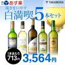 【第83弾】1本驚きの713円!いつでもやっぱり白満喫!!渇きをいやす5本 白ワインセット(送料別・追加7本同梱可)[T][…