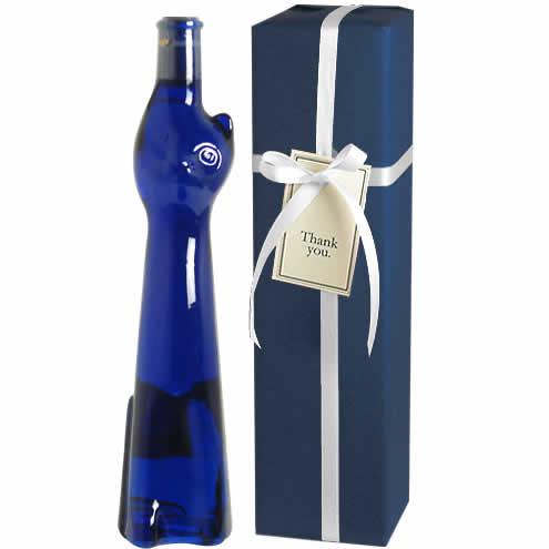 【送料・ラッピング込】 <青い猫のボトル> ラインヘッセン・リースリング Q.b.A. ネコボトル ギフト(白1本)  【あす楽対応_関東】 ( ブルー 青猫 ) ワイン ギフト クリスマス 御歳暮
