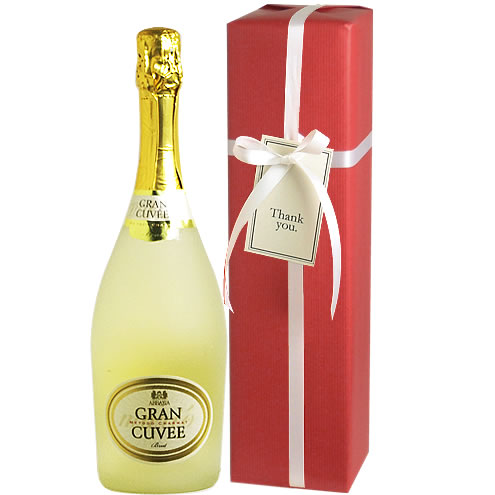 ワイン ギフト 誕生日祝い 【送料・ラッピング込】 アッバチーア グラン・キュヴェ スパークリングギフト (泡1) 【あす楽対応_関東】【smtb-T】 スパークリングワイン お歳暮 クリスマス