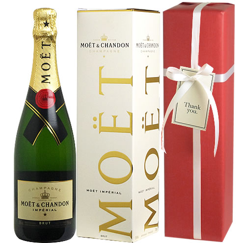 ギフト ワイン シャンパン お歳暮 クリスマス 【送料・ラッピング込】 <BOX入り> モエ・エ・シャンドン ギフト 750ml(泡1) 【あす楽対応_関東】 誕生日祝い