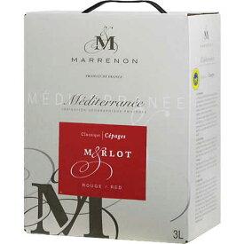 ボックスワイン 箱ワイン boxワイン 【BOXよりどり6個で送料無料】 メディテラネー メルロー バッグインボックス 3,000ml 【あす楽対応_関東】