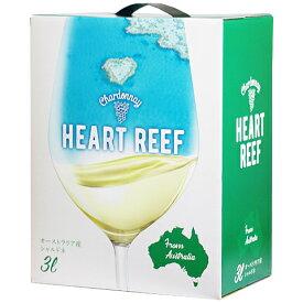 ボックスワイン 箱ワイン boxワイン 【BOXよりどり6個で送料無料】 ハートリーフ シャルドネ バッグインボックス 3,000ml オーストラリア【L】
