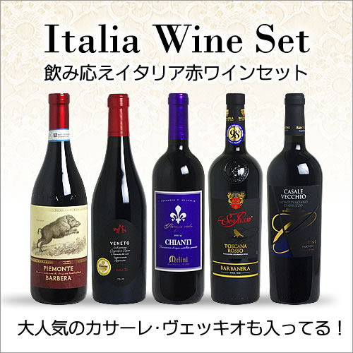 【送料無料】 <第18弾> 飲み応えイタリアワインセット (赤5本) 【あす楽対応_関東】