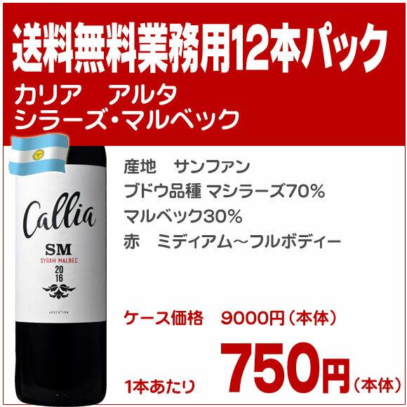 カリア アルタ シラーズ マルベック【送料無料 業務用12本パック】