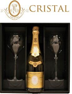 大型グラス クリスタル [2008]ルイ ロデレールCRISTAL LOUIS ROEDERER 750ml シャンパーニュ 2客 ペアグラス 公式