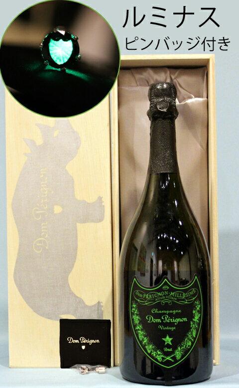 キュヴェ ドン・ペリニョン ルミナスラベル [2009]cuvee Dom Perignon Luminousモエ・エ・シャンドン ルミナスピンバッジ付き 豪華桐箱付き