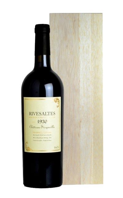 リヴザルト[1930]年・究極限定秘蔵古酒・シャトー・シスケイユ元詰・AOCリヴザルト 箱付 (箱入) ギフトRivesaltes [1930] Chateau Sisqueille AOC Rivesaltes (Wooden Box)