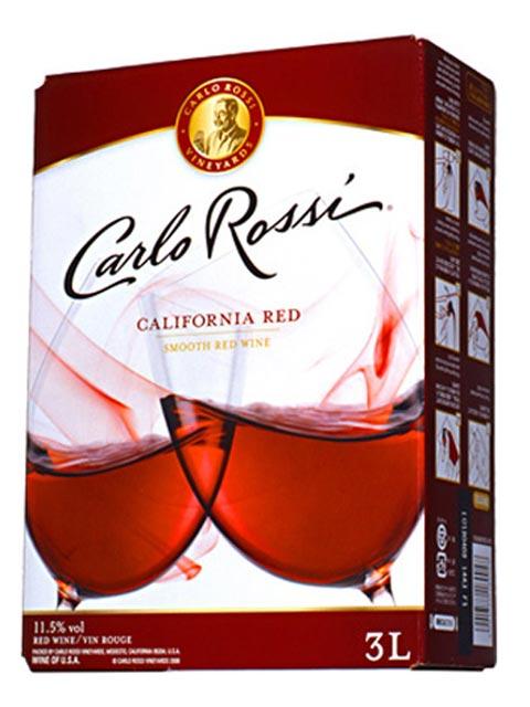 【8本ご購入で送料無料】カルロ・ロッシ・カリフォルニア・レッド・3,000ml・バッグ・イン・ボックス・ワイン(業務店向け大型サイズ)・辛口・E&J・ガロ・ワイナリー(8本で送料無料)Carlo Rossi California Red B.I.B (Box Wine) Gallo Winery【wineuki_CAA】