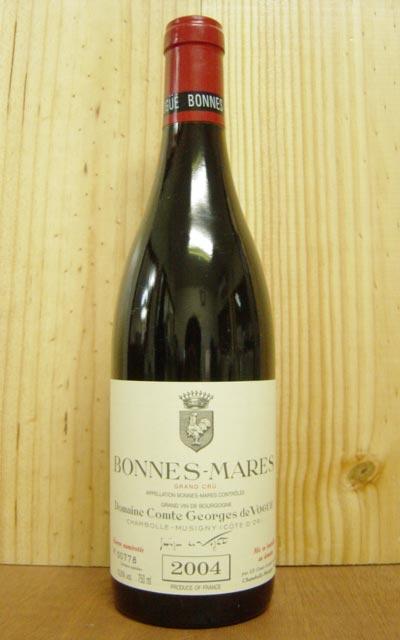 ボンヌ・マール・グラン・クリュ[2004]年・ドメーヌ・コント・ジョルジュ・ド・ヴォギュエBonnes-Mares Grand Cru [2004] Dm.Comte Georges De Vogueヒュー ジョンソン氏をして「極めて頑強で寿命の長いワイン。ミュジニほどのかぐわしさはないが、シャンベルタンとも対等に