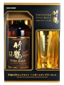 竹鶴 [12] 년 ・ 퓨어/맥 아/나누거나 텀블러 세트 ニッカ 위스키/정품/700ml/40% TAKETSURU Aged 12 Years Pure Malt Whisky Nikka 700ml 40%