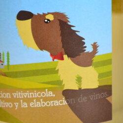 【777均】ロス・セニョーレス(ロスセニョーレス)・ブランコ・D.Oリオハ内のヴィウラ(マカベオ)100%・ヴィニェドス・デ・アルデヌエヴァ元詰(ヴィノ・デ・メサ)かわいい犬のラベルLOS SENORES Blanco Vinedos de Aldeanueva
