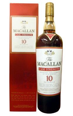 ザ・マッカラン・カスクストレングス・ハイランド・シングル・モルト・スコッチ(シェリーカスク)10年・1L・ビッグサイズThe MACALLAN Highland Single Malt Cask Strength Scotch Whisky 10years old 1000ml