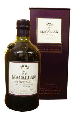 【箱入】マッカラン[1851]インスピレーション・700ml・41.3%・豪華箱入・マッカラン蒸留所元詰(吹きガラス風古風ボトル入り)The MACALLAN [1851] INSPIRATION Highlaud Single Mait Scotch Whisky