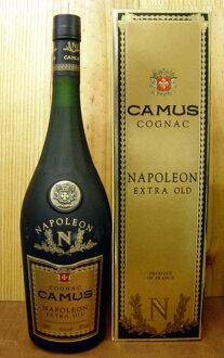 加繆·拿破侖·特別·老.1升巨大的(白蘭地酒)(白蘭地)豪華的珍藏硬體酒精飲料CAMUS NAPOLEON Cognac Extra Old大人氣的高級的白蘭地是白蘭地酒并且提起拿破侖的話這個!!而且大的尺寸!爆炸價格tsu!!