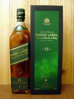 조니 워커 그린 라벨/퓨어/맥 아/15 년 도구 상자 입/정규 대리점 수입품 Johnnie Walker Green Label Pure Malt Aged 15years