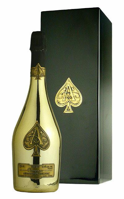 【豪華箱入】アルマン ド ブリニャック シャンパーニュ・ブリュット ゴールド キャティア社 ギフト 泡 白 辛口 シャンパン 750mlARMAND DE BRIGNAC Brut Champagne Ace of Spades Gold AOC Champagne (DX Gift Box)