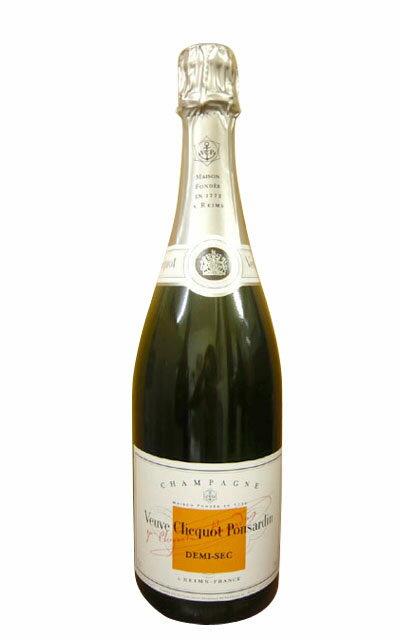 ヴーヴ クリコ ホワイトラベル ドゥミ セック 白 泡 N.V 正規 箱なし 750ml シャンパン シャンパーニュ (ヴーヴ・クリコ) (ヴーヴクリコ) (ブーブクリコ)Veuve Clicquot Ponsardin demi Sec AOC