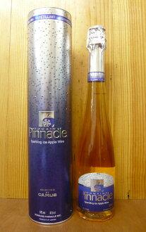 """加繆""""頂峰""""蘋果冰酒波光粼粼 Domaine 頂峰 (幹邑 Camus 系列)-華麗的圓柱形的禮品盒,加拿大生產蘋果冰、 無添加劑 100%品尼高冰蘋果汽酒 (Domaine 頂峰) 選定由加繆加拿大禮品盒"""