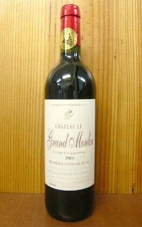 """原城堡·ru·豪華·千分之一毫米LAN、""""kyuve·這個梳子開""""[2003]年、AOC purumieru·大衣·do·布萊·borudoakitenukonkuru、金獎獲獎酒、城堡詰問Chateau Le Grand Moulin""""Cuvee Collection""""[2003]AOC Premieres Cotes de Blaye"""