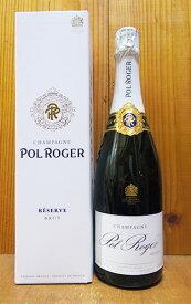 【ギフト箱入】ポル ロジェ シャンパーニュ ブリュット レゼルヴ NV ギフト 箱付 正規 白 泡 シャンパン 750mlPol Roger Champagne Brut Reserve N.V AOC Champagne Gift Box