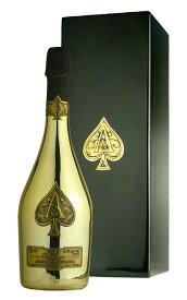 【豪華箱入】アルマン ド ブリニャック シャンパーニュ ブリュット ゴールド キャティア社 ギフト 泡 白 辛口 シャンパン ワイン 750mlARMAND DE BRIGNAC Brut Champagne Ace of Spades Gold AOC Champagne (DX Gift Box)