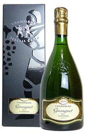 【箱入り】 2000年 グロンニェ シャンパーニュ スペシャル クラブ ブリュット ミレジメ 2000 箱付 スペシャル クラブ ボトル 泡 白 シャンパン ワイン 辛口 750mlGrongnet Champagne Special Club Brut Millesime 2000 R.M. Domaine Grongnet Gift Box