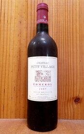 シャトー プティ ヴィラージュ 1997 AOCポムロール フランス 赤ワイン ワイン 辛口 フルボディ 750mlChateau Petit Village [1997] AOC Pomerol