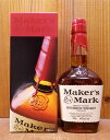 【正規品 箱入】メーカーズマーク バーボン ウイスキー 正規代理店輸入品 レッド トップ 700ml 45% wisky_mkm