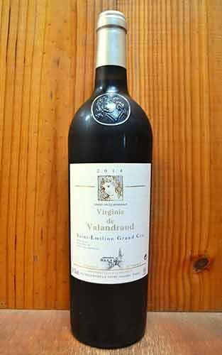 【3本以上ご購入で送料・代引無料】ヴィルジニー ド ヴァランドロー 2014 (シャトー ド ヴァランドローのセカンドラベル) (ジャン リュック テュヌヴァン) 赤ワイン ワイン 辛口 フルボディ 750mlVirginie de Valandraud [2014] AOC Saint Emilion Grand Cru (Thunevin)