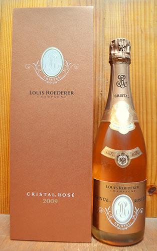 【豪華ギフト箱入】ルイ ロデレール クリスタル ロゼ ヴィンテージ 2009 AOCミレジム ロゼ シャンパーニュ 直輸入品 泡 シャンパン ワイン 辛口 750mlLouis Roederer CRISTAL ROSE Millesime [2009] DX Original Gift Box AOC Millesime Rose Champagne