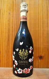 スプマンテ/엑스트라 드라이 플라워 (사쿠라 꽃) 인쇄 병 (피노와 샤도 네이)-ガヴィオリ 집/예쁜 꽃 (벚꽃의 꽃) 인쇄 레이블 GAVIOLI Spumante Extra Dry in Flower Bottle (Pinot Bianco & Chardonnay)