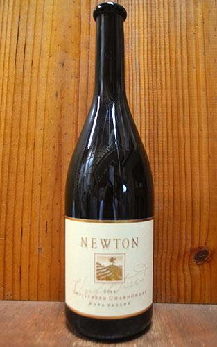 ニュートン・ナパ・ヴァレー・アンフィルタード・シャルドネ[2014]年・オーク樽20ヵ月熟成・ニュートン・ヴィンヤード・重厚ボトルNEWTON Unfiltered Chardonnay [2014] Newton Vineyard (NAPA County)