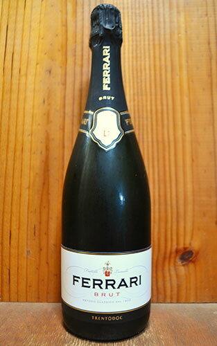 【6本以上ご購入で送料・代引無料】フェッラーリ (フェラーリ) ブリュット (メトッド クラシコ) (ブラン ド ブラン) 正規品 750ml スパークリングワイン イタリア 白 辛口 DOCトレント トレンティーノ・アルト・アディジェ
