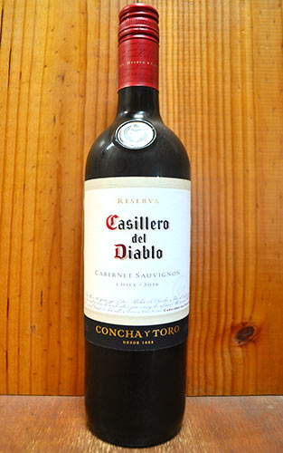 カッシェロ デル ディアブロ カベルネ ソーヴィニヨン 2016 コンチャ イ トロ 赤ワイン 辛口 フルボディ 750mlCasillero del Diablo Cabernet Sauvignon [2016]