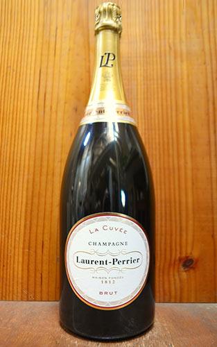 【大型ボトル】ローラン ペリエ シャンパーニュ ブリュット ラ キュヴェ 大型マグナムサイズ 1500ml 1.5L 正規 新ラベル フランス AOCシャンパーニュ ワイン 白 辛口 泡 シャンパン (ローラン・ペリエ・シャンパーニュ)