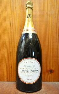 【2本以上ご購入で送料 代引無料 】【大型ボトル】ローラン ペリエ シャンパーニュ ブリュット ラ キュヴェ 大型マグナムサイズ 1500ml 1.5L 正規 新ラベル フランス AOCシャンパーニュ ワイン