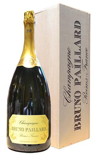 【豪華木箱入】【超特大ボトル】ブルーノ パイヤール エクストラ ブリュット プルミエール キュヴェ ブルーノ パイヤール 箱付 泡 白 辛口 シャンパン 6000ml 6L ワインBruno Paillard Brut Premiere Cuvee 6,000ml AOC Champagne Wooden Box