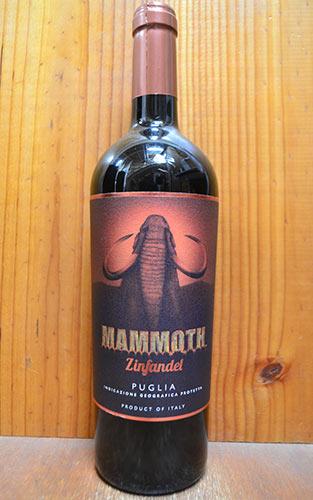 【6本以上ご購入で送料・代引無料】マンモス ジンファンデル 2016 マーレ マンニュム 赤ワイン 750mlギフト 贈り物 お祝いMAMMOTH Zinfandel (Primitivo) [2016] Mare Magnum IGT Puglia Rosso