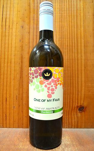 【500均】【12本ご購入で送料無料】ワン オブ マイ ファヴス シャルドネ スクリューキャップ 白ワイン ワイン 辛口 750mlOne of my Favs Chardonnay Wine of Australia 13% 750ml