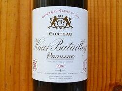 【3本以上ご購入で送料・代引無料】シャトー オー バタイエ 2006 メドック グラン クリュ クラッセ 格付第5級 AOCポイヤック 赤ワイン ワイン 辛口 フルボディ 750mlChateau Haut Batailley [2006] AOC Pauillac Grand Cru Classe du Medoc en 1855
