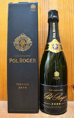 【箱入】ポル ロジェ シャンパーニュ ブリュット ミレジム 2008 箱付 正規 フランス AOCヴィンテージ シャンパーニュ 白 辛口 泡 シャンパン 750ml (ポル・ロジェ・シャンパーニュ)Pol Roger Champagne Brut Millesime [2008]